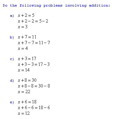 Easy algebra worksheets with answers