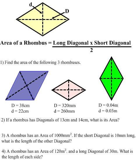 Rhombus Properties Worksheet - Checks Worksheet