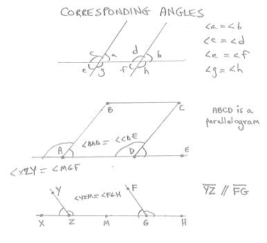 Corresponding Angles: Definition, Theorem &amp- Examples - Video ...
