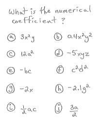 Freemathtutoring Numerical Coefficient Exercises Part Of The Official Doug Simms Online Site