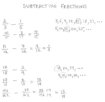 freemathtutoring - Subtracting Fractions Examples part of the ...